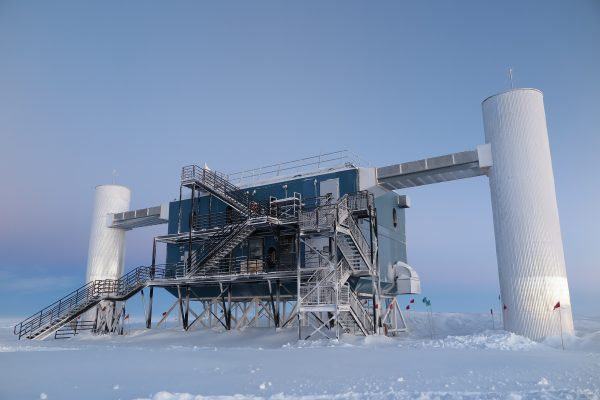 The IceCube Laboratory at the Amundsen-Scott South Pole Station, in Antarctica, hosts the computers that collect raw data